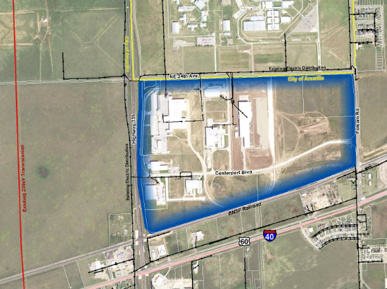 Aerial photo of site.
